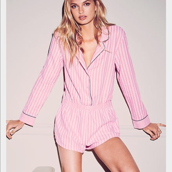 0cdaf0914a New Victoria s Secret dreamer flannel romper Pj. M 58449a8b6d64bcdc98003fcb