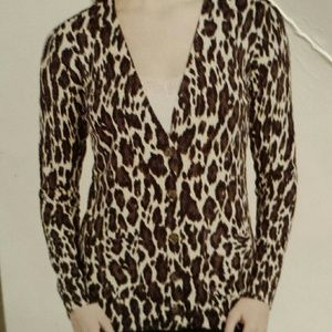 Grace Elements Sweaters - Animal print cardigan NWT XL