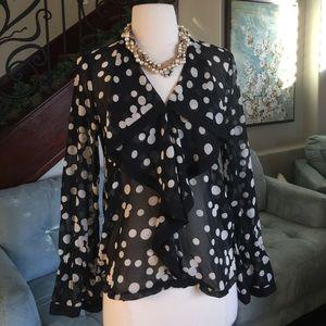 ❤️️Zara polka dots silk blouse ♥️
