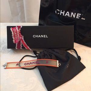 CHANEL Jewelry - Chanel Vintage Rubber Bracelet