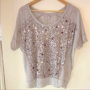 Express sequined blouse L