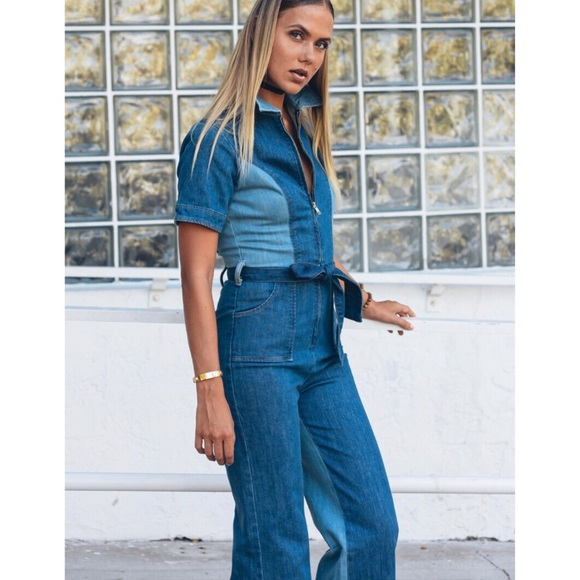 8e72ad4c67a3 Stoned Immaculate Blue Jean Baby Jumpsuit