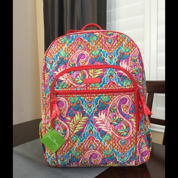 daf28110a2 NWT VERA BRADLEY CAMPUS BACKPACK