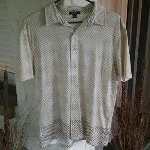 Alfani Other - SALE..Men's Large Shirt Short Sleeve Brown White