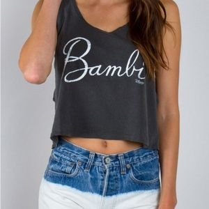 Junk Food Clothing Tops - Worn Once Bambi Crop Top