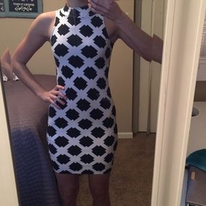 Lulu's Dresses & Skirts - Black and white bodycon dress