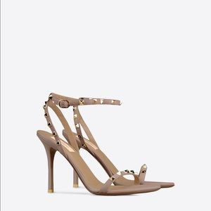 Valentino Shoes - Valentino Poudre Rockstud Sandal