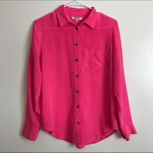 Madewell Tops - ❤️SALE❤️madewell 100%silk roll up boyshirt blouse