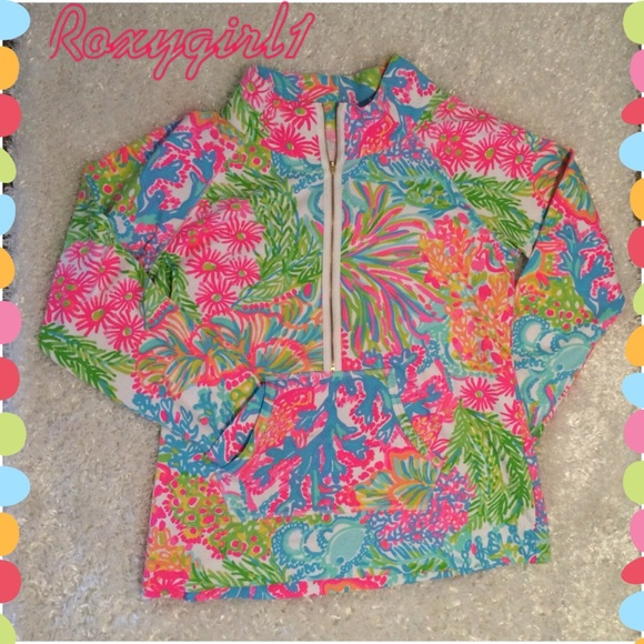 48064f83be29bd Lilly Pulitzer Tops | Lovers Coral Printed Popover | Poshmark