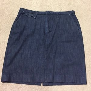Denim Banana Republic pencil skirt