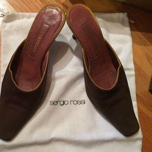 Brown suede Sergio Rossi heels