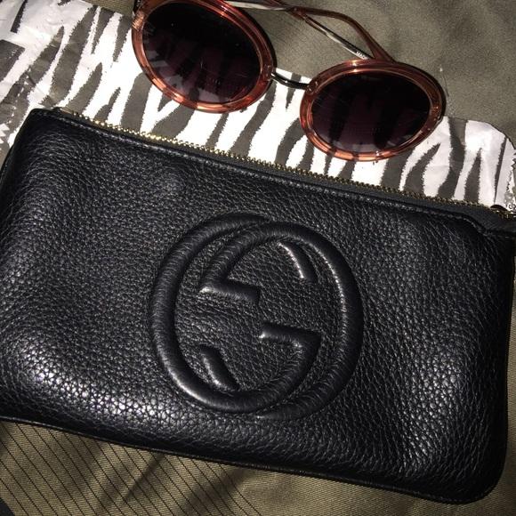 d16c4497082 Gucci Handbags - Gucci Soho Leather Wristlet Clutch