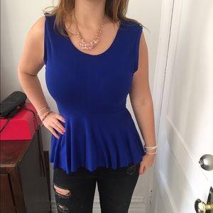 Deep blue Zara top