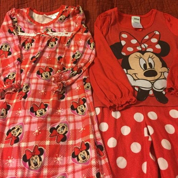 Disney Pajamas | 2 Girls Minnie Mouse Pjs 3t4t | Poshmark