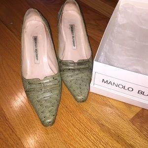 Manolo ostrich heels