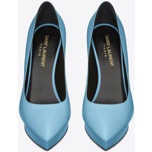 Saint Laurent Shoes - Saint Laurent Janis 105 Baby Blue Pumps