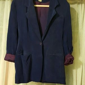 Vintage 100% silk blazer