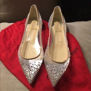 Christian Louboutin Shoes - Louboutin Follies Strass Swarovski Glitter Flats