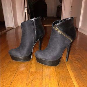 "JustFab ""Novalee"" Black heel boots"