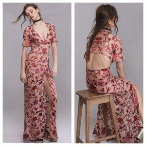 1062c7077d65 For Love and Lemons Dresses - • saffron maxi dress in sunset floral •