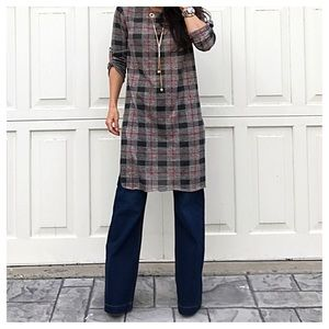 Dresses & Skirts - ✨LAST ONE✨ITALY plaid tunic dress