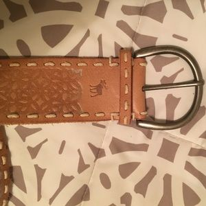 Tan Abercrombie leather belt