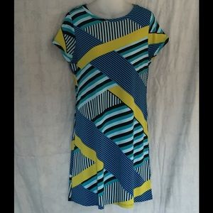 Calvin Klein cap sleeve shift dress