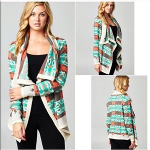 1HR SALECARMEN print cardigan - MINT