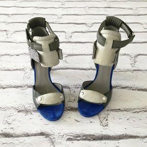 Alexander Wang Shoes - Alexander Wang Patchwork Sandal Cement Blue💙