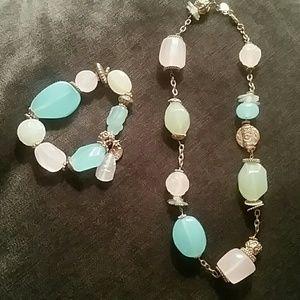 Jewelry - **Beaded Necklace & Bracelet set**