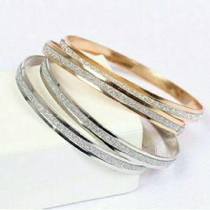 Jewelry - 2 Bangle Bracelets~ Gold & Sparkling Silver- NWT