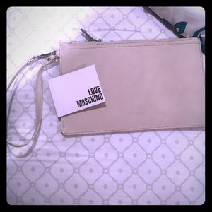 Authentic moschino clutch/wristlet