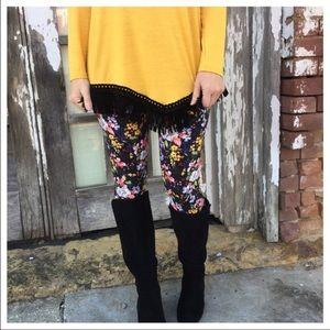 Super soft luxury floral leggings pant jeggings
