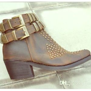 Jeffrey Campbell Shoes - JEFFREY CAMPBELL Leather 'Benatar' Boots- RARE