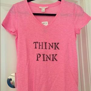 Pink V-neck Tee