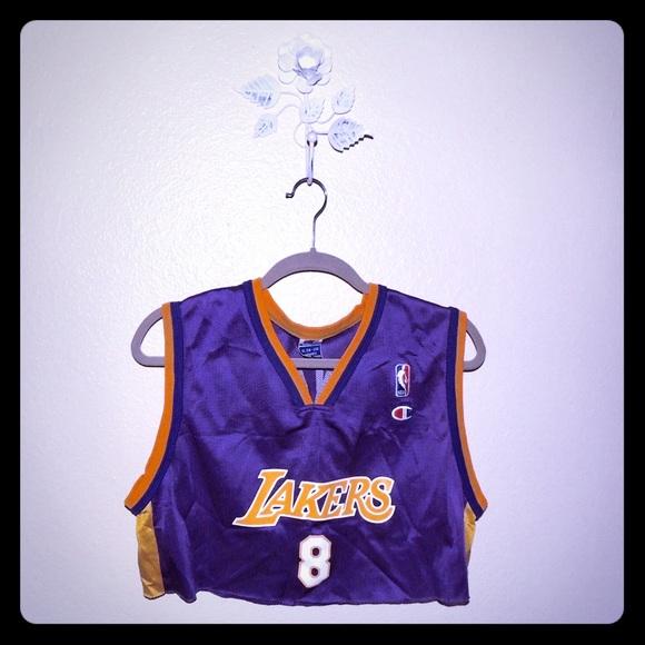 1b07d7d47 Adidas Tops - Kobe Bryant LA Lakers authentic jersey crop top