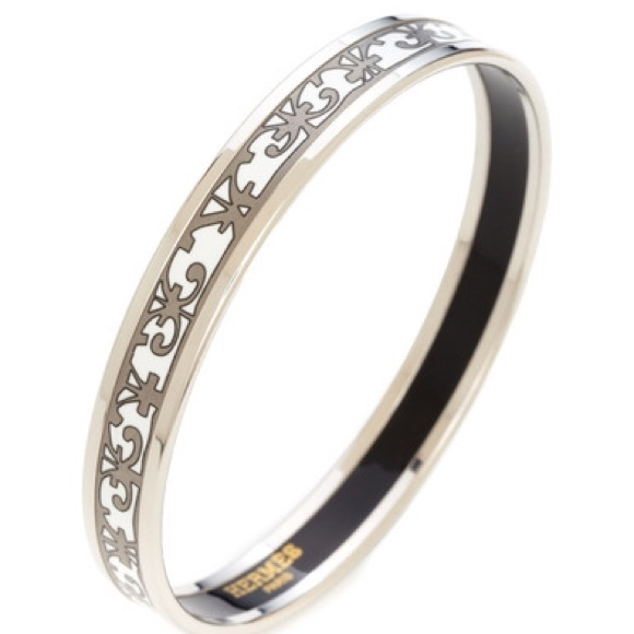 c9d0c597956 Hermes Jewelry - 100% Authentic Hermes Narrow Enamel Bangle 65mm