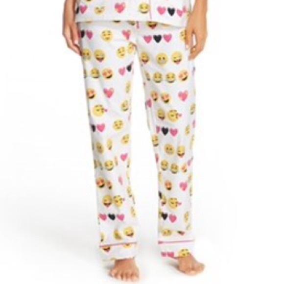 bf28001525 PJ Salvage Pajama Pants cozy fleece hearts emoji