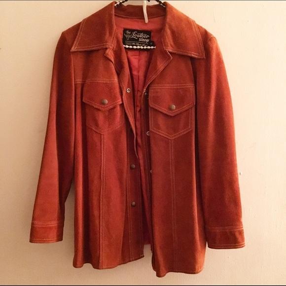 d2206888b 70's Vintage Orange Rust Suede Western Jacket. M_5844d2e578b31c3b23011794