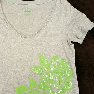 Sequined Graphic Tee