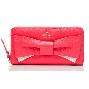 kate spade Handbags - 53% OFF! Kate Spade Pink Bow Wallet Clutch