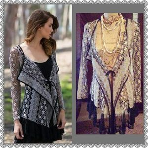 AREVE Tops - Lace Cardigan