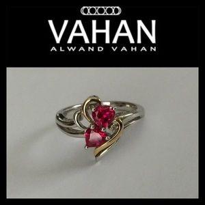 alwand vahan Jewelry - Heart Shaped Red Rubies and Diamond Ring