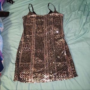 Piperlime Dresses & Skirts - Sabine sequin dress black bronze gunmetal sz L