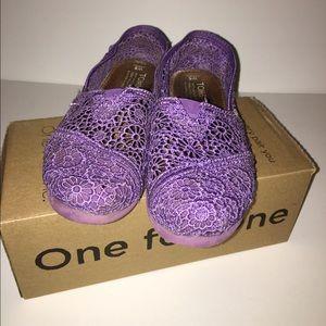 TOMS Shoes - Purple crochet Toms