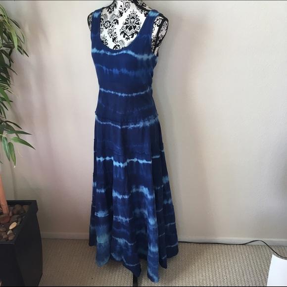 8b07367d38655 Karen Kane Dresses | Tiedye Blue Maxi Dress | Poshmark