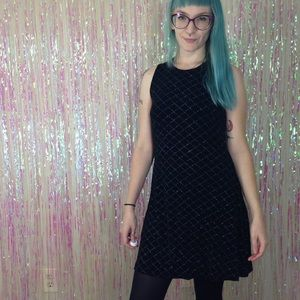 Marian & Maral 90's Black Glitter Diamond Dress