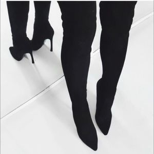 Shoes - Pointy Toe Over the Knee Thigh High Boots