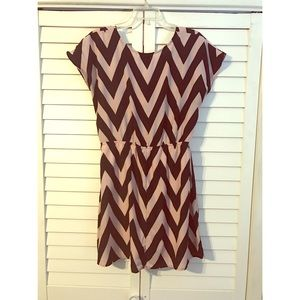 Chevron Striped Mini Dress XL
