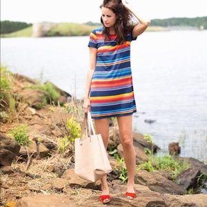 1. State striped oasis tee shirt dress